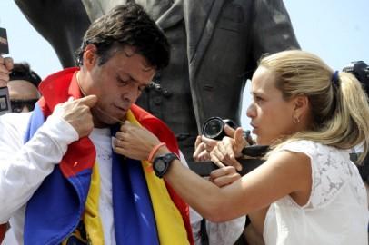 Leopoldo Lopez y Lilian Tintori